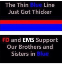 Repost from @ems_universe. RIP Dallas Police officers killed last night. Know that our prayers are with you and that EMS and Fire will always be there to support you.: The Thin Blue Line  Just Got Thicker  FD and  EMS Support  Our Brothers and  Blue  Sisters in Repost from @ems_universe. RIP Dallas Police officers killed last night. Know that our prayers are with you and that EMS and Fire will always be there to support you.