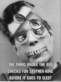 king: THE THING UNDER THE BED  CHECKS FOR STEPHEN KING  BEFORE IT GOES TO SLEEP  mematic net