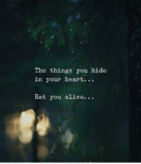 Heart, Hide, and You: The things you hide  in your heart.