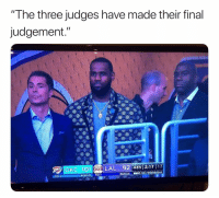 "Basketball, Nba, and Sports: ""The three judges have made their final  judgement.""  OKC 101LAL 92 Ath 2:17  NBA WEDNESDAY  TO:1 Bron's plan 😂 (Via ‪izTariq‬-Twitter)"