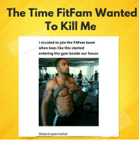 """Click, Gym, and Love: The Time FitFam Wanted  To Kill Me  I decided to join the FitFam team  when boys like this started  entering the gym beside our house  Ozband supermarket Things we do for love! 😂😂😂😂 List by @h_a_u_w_a To submit your lists & have them featured on @KraksTV & @KraksHQ 1. Register on www.kraks.co (link in bio) 2. Click the + icon 3. Click """"Lists"""" and voila 😎 KraksList KraksTV"""