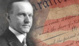 """America, Memes, and American: """"The time to stop those who would loosen and weaken the fabric of our government is before they begin. The time for Americans to range themselves firmly, squarely and uncompromisingly behind American ideals is now. The great body of our people have an abiding faith in their own country. The time has come when they should supplement that faith with action. The question is whether America will allow itself to be degraded into a communistic and socialistic state, or whether it will remain American.""""  Address Delivered at the Dedication of a Monument to Lafayette Calvin Coolidge Baltimore, Md. Saturday, September 6, 1924"""
