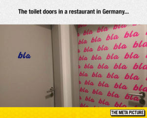 Tumblr, Blog, and Germany: The toilet doors in a restaurant in Germany...  bla bla w  bla bla bla bla  bla bla, bla bla  bla bla bla bla  bla  bla bla bla bla  bla bla bla bla  bla bla bl  bla bla bla bla  bla bla bla bia  THE META PICTURE srsfunny:Toilet Doors