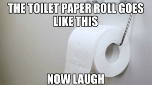 Just saying tho 😭: THE TOILET PAPER ROLL GOES  LIKE THIS  NOW LAUGH Just saying tho 😭