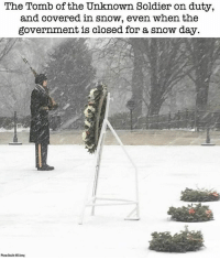 Merica SaluteTheTroops UnknownSoldier USA WashingtonDC: The Tomb of the Unknown Soldier on duty,  and covered in snow, even when the  government is closed for a snow day.  Photo Cheda: US Amy Merica SaluteTheTroops UnknownSoldier USA WashingtonDC