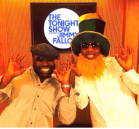 <p><strong>Behind the Scenes:</strong>Tariq and Frank Knuckles definitely have their St. Patrick&rsquo;s Day spirit in full effect backstage.</p>: THE  TONIGHT  SHOW  STARRING  FALLO <p><strong>Behind the Scenes:</strong>Tariq and Frank Knuckles definitely have their St. Patrick&rsquo;s Day spirit in full effect backstage.</p>