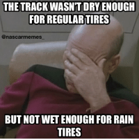 That, was just sad... I didn't have a big enough hand for that much of a facepalm at the time! 😂😂 nascar racing race racinginrain rain shower drizzle tires wet dry facepalm nationwide nascarmemes likeitup follow followme goodyear: THE TRACK WASN'T DRY ENOUGH  FORREGULARTIRES  @nascar memes  BUT NOT WET ENOUGH FOR RAIN  TIRES That, was just sad... I didn't have a big enough hand for that much of a facepalm at the time! 😂😂 nascar racing race racinginrain rain shower drizzle tires wet dry facepalm nationwide nascarmemes likeitup follow followme goodyear