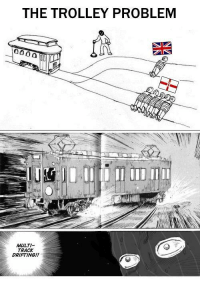 "Http, Trolley, and Via: THE TROLLEY PROBLEM  MULTI-  TRACK  DRIFTING!! <p>Buy? via /r/MemeEconomy <a href=""http://ift.tt/2xUwNfC"">http://ift.tt/2xUwNfC</a></p>"