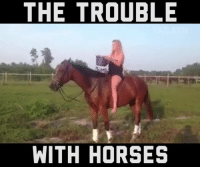 Horses, Memes, and Watch Me: THE TROUBLE  WITH HORSES Watch me nay nay