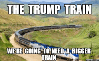 Train: THE TRUMP TRAIN  WERE GOING TO NEED A BIGGER  TRAIN  Memes (COM