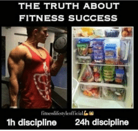 This 💪: THE TRUTH ABOUT  FITNESS SUCCESS  fitnesslifestyleofficiall  1h discipline 4h discipline This 💪