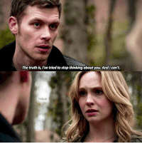 [4x21] — klaroline or klamille?: The truth is, I've tried to stop thinking about you. And I can't  TVD.IG [4x21] — klaroline or klamille?