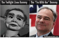 """Memes, Twilight, and The Twilight Zone: The Twilight Zone Dummy The """"l'm With Her Dummy  ThePeoplesCube.Com"""