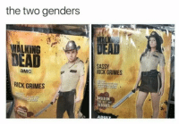 Sassy, Grimes, and Amc: the two genders  THE  SASSY  RICK GRIMES  aMc  RICK GRIMES  SED ON  TV SERIES