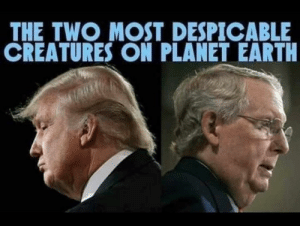 They have both done irreparable damage to our Democracy.: THE TWO MOST DESPICABLE  CREATURES ON PLANET EARTH They have both done irreparable damage to our Democracy.