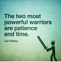 https://t.co/Yz50rz3UNx: The two most  powerful warriors  are patience  and time.  Leo Tolstoy https://t.co/Yz50rz3UNx