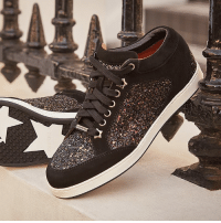 The ultimate in high-low chic, the MIAMI sneakers come with glitter encrusted panels and star emblazoned sole.: The ultimate in high-low chic, the MIAMI sneakers come with glitter encrusted panels and star emblazoned sole.