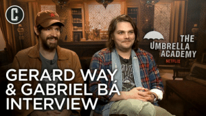 Gerard Way: THE  UMBRELLA  ACADEMY  NETFLIX  GERARD WAY  & GABRIEL BA  NTERVIEW