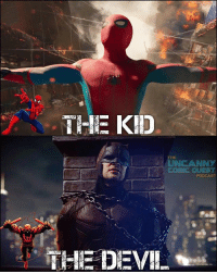 "MY FANBOY WISH! I wanted SOOOOOO badly for there to be a reference to the Netflix series! Maybe Peter saying to Tony ""I'm just trying to make a difference in my city like the Devil in Hells Kitchen"" and have Tony say ""you don't want to be like him"" ORRRRRRRR my other thought was that they could have made a kingpin reference in the post credit scene. Maybe saying the ""big guy"" runs everything in that prison, or have the prison suits have the same name on them. It was a great opportunity to connect universes but they were like ""NAW"" 😔 . . . 🚨CLICK THE LINK IN MY BIO to subscribe to the Uncanny Comic Quest podcast. New episode will be up later tonight!🚨 . . . spiderman spidermanhomecoming daredevil mcu mattmurdock kingpin scorpion peterparker auntmay vulture michaelkeaton robertdowneyjr ironman captainamerica doctorstrange thor thorragnarok hulk infinitywar avengersinfinitywar avengers: THE  UNCANNY  PODCAST  THE DEVIL MY FANBOY WISH! I wanted SOOOOOO badly for there to be a reference to the Netflix series! Maybe Peter saying to Tony ""I'm just trying to make a difference in my city like the Devil in Hells Kitchen"" and have Tony say ""you don't want to be like him"" ORRRRRRRR my other thought was that they could have made a kingpin reference in the post credit scene. Maybe saying the ""big guy"" runs everything in that prison, or have the prison suits have the same name on them. It was a great opportunity to connect universes but they were like ""NAW"" 😔 . . . 🚨CLICK THE LINK IN MY BIO to subscribe to the Uncanny Comic Quest podcast. New episode will be up later tonight!🚨 . . . spiderman spidermanhomecoming daredevil mcu mattmurdock kingpin scorpion peterparker auntmay vulture michaelkeaton robertdowneyjr ironman captainamerica doctorstrange thor thorragnarok hulk infinitywar avengersinfinitywar avengers"