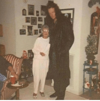 The Undertaker with his grandma. Moments later, she was tombstoned.: The Undertaker with his grandma. Moments later, she was tombstoned.