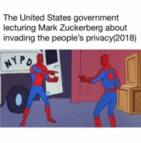 Funny, Mark Zuckerberg, and United: The United States government  lecturing Mark Zuckerberg about  invading the people's privacy(2018)  PD @shitheadsteve