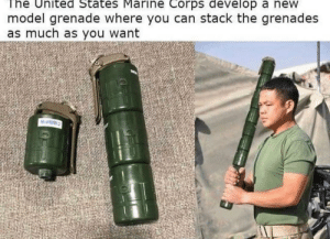 United, United States Marine Corps, and Team Fortress 2: The United States Marine Corps develop a new  model grenade where you can stack the grenades  as much as you want  Hamm demomans dream