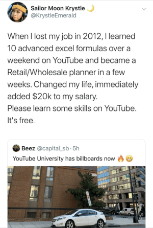 The University of YouTube has free tuition.: The University of YouTube has free tuition.