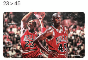 The untold story of how Michael Jordan switched from No. 45 to No. 23: https://t.co/cUnowjp4I0 https://t.co/3ulM6J1e1e: The untold story of how Michael Jordan switched from No. 45 to No. 23: https://t.co/cUnowjp4I0 https://t.co/3ulM6J1e1e