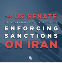 The United States Senate is voting today on the Iranian Sanctions Act which will continue the enforcement of sanctions against Iran. Share this post if you want the United States to continue sanctioning the world's leading state sponsor of terror.: THE  US SIENA  I S  V O T IN G TO  C O N TINUE  E N F O R C I N G  S A N C T I O N S  ON TRAN The United States Senate is voting today on the Iranian Sanctions Act which will continue the enforcement of sanctions against Iran. Share this post if you want the United States to continue sanctioning the world's leading state sponsor of terror.