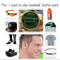"""Funny, Copenhagen, and Green: The  used to play baseball"""" starter pack  ONG  CU  Copenhagen  WINTER GREEN  ON SINCE  DRAYER  Physical Therapy Institute  Leading the Way to Good Health And all drove a shitty lifted truck"""