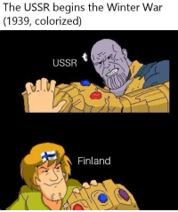 Winter war colorized Circa(1939): The USSR begins the Winter War  (1939, colorized)  USSR  Finland Winter war colorized Circa(1939)