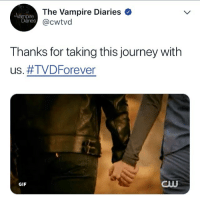 it's been one year since TVD ended:(( — I'm leaving this account. I don't enjoy editing anymore and I don't want to force myself to edit. I started this account June 21st 2016 and since then i've met so many people on here and have made so many memories, i'm so grateful:))) TVD still means so much to me and it always will. If any mutuals want to stay in contact my spam is @marriedelena [i didn't have time to make an edit sorry]: The Vampire Diaries  @cwtvd  mpire  Diaries  Thanks for taking this journey with  us. #TVD Forever  GIF  BUU it's been one year since TVD ended:(( — I'm leaving this account. I don't enjoy editing anymore and I don't want to force myself to edit. I started this account June 21st 2016 and since then i've met so many people on here and have made so many memories, i'm so grateful:))) TVD still means so much to me and it always will. If any mutuals want to stay in contact my spam is @marriedelena [i didn't have time to make an edit sorry]