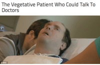"""Apple, Doctor, and Drunk: The Vegetative Patient Who Could Talk To  Doctors   BBC my-hardcore-kittens:  indie—cat:  rainamermaid:  memewhore:  sean3116:  sixpenceee:  As someone who wants to study the human consciousness I found this very interesting. Scott Routley was a """"vegetable"""". A car accident seriously injured both sides of his brain, and for 12 years, he was completely unresponsive. Unable to speak or track people with his eyes, it seemed that Routley was unaware of his surroundings, and doctors assumed he was lost in limbo. They were wrong. In 2012, Professor Adrian Owen decided to run tests on comatose patients like Scott Routley. Curious if some """"vegetables"""" were actually conscious, Owen put Routley in an fMRI and told him to imagine walking through his home. Suddenly, the brain scan showed activity. Routley not only heard Owen,he was responding.  Next, the two worked out a code. Owen asked a series of """"yes or no"""" questions, and if the answer was """"yes,"""" Routley thought about walking around his house. If the answer was """"no,"""" Routley thought about playing tennis.  These different actions showed activity different parts of the brain. Owen started off with easy questions like, """"Is the sky blue?"""" However, they changed medical science when Owen asked, """"Are you in pain?"""" and Routley answered, """"No."""" It was the first time a comatose patient with serious brain damage had let doctors know about his condition. While Scott Routley is still trapped in his body, he finally has a way to reach out to the people around him. This finding has huge implications. SOURCE  HOLY STEAMING SHITFUCKS WHY IS EVERYONE NOT LOSING THEIR SHIT ABOUT THIS  What a fucking nightmare, just kill me.  I know a girl who was hit by a drunk driver and in that state for a year. When she woke up the first thing she did was tell off the doctor who tried to convince her mom to pull the plug. She heard *everything* while being called brain dead.  Omg^"""
