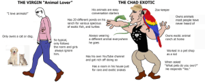 """The Virgin """"Animal Lover"""" Vs. The Chad Exotic: The Virgin """"Animal Lover"""" Vs. The Chad Exotic"""