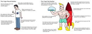 The Virgin Round Earther VS The Chad Flat Earther: The Virgin Round Earther VS The Chad Flat Earther