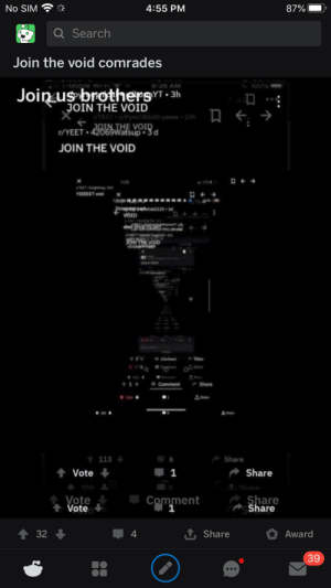 The void will prevail: The void will prevail