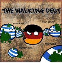 Germanyball, The Walking, and Ons: THE WALKING DEBT  DEBT RELIEF  MORE MONIfz  MONI  ONS (G)old but topical  credit to ze author