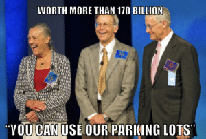 The Waltons doing their part in this global emergency. Free use of Walmart parking lots ! Free !: The Waltons doing their part in this global emergency. Free use of Walmart parking lots ! Free !