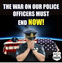 America, Memes, and Police: THE WARON OUR POLICE  OFFICERS MUST  END NOW!  THE  BADGE The war on law enforcement is epidemic. Every aspect of culture has been infected. The anti-police disease is highly contagious and rapidly spreading in every aspect of American culture. The number of police officers gunned down has increased 167% this year only, while a total of 115 officers have been killed in the line of duty in 2016, a 15% increase over last year. This anti-police epidemic is ofcourse a direct result of the current administration and Obama's policy and hateful liberal media and this must end as soon as possible. All of these tragedies remind us in very stark terms that America's law enforcement professionals are facing clear and growing dangers, And when our police officers are at risk, we are all at risk! stay4police supportthepolice police cop hero thinblueline lawenforcement America policelivesmatter supportourtroops BlueLivesMatter sheepdogs police thankacop safetyday thankacop hugACop SupportLawEnforcement