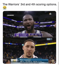 WhosUp: The Warriors' 3rd and 4th scoring options  @NBAMEMES  KINGS WIN!  NGS WIN!  C DEMARCUS  15 COUSINS  3-PTFG  KInGs  2ND CAREER 50-POINT GAME  SPORT  106  13  TF3  TONIGHT  KLAY THOMPSON  60 PTS 21/33 FGS 8/14 3-PT FGS  O CAREER-HIGH (MOST ALL-TIME vs PACERS) WhosUp