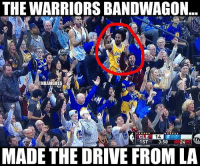 Sports, Warriors, and Warrior: THE WARRIORS BANDWAGON  30  ONBAMEMES  14  1ST  3:58  24  MADE THE DRIVE FROM LA the bandwagon is spreading