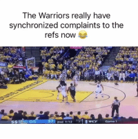 Crazy 😮😂: The Warriors really have  synchronized complaints to the  refs now  LEGS 37 2nd 1:12  7 SwCF Game 1  55 Crazy 😮😂