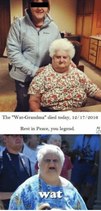 """RIP: The """"Wat Grandma"""" died today, 12/17/2016  Rest in Peace, you legend.  Wat RIP"""