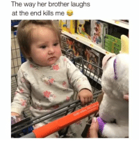 Memes, 🤖, and Her: The way her brother laughs  at the end kills me She's not having it Credit: @kylekrueg