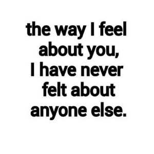 https://iglovequotes.net/: the way I feel  about you,  I have never  felt about  anyone else. https://iglovequotes.net/