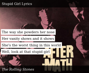 The Rolling Stones-Aftermath-Stupid Girl
