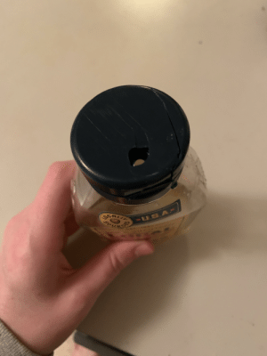 The way the lid on our honey cracked: The way the lid on our honey cracked
