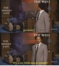 "The Middle, Been, and Invest: THE WEST  THE  MIDDLE  EAST  [adultswim.com]  Igunshots  THE WEST  THE  MIDDLE  EAST  adultswim.com]  Why is the middle east so unstable? <p>A new format that hasn&rsquo;t been tapped into. Invest! via /r/MemeEconomy <a href=""https://ift.tt/2EOG7El"">https://ift.tt/2EOG7El</a></p>"