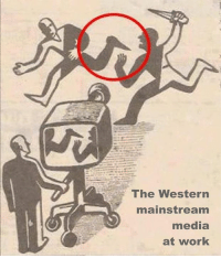 Memes, Western, and 🤖: The Western  mainstream  media  at work