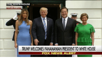 Memes, News, and White House: THE WHITE HOUSE  11:35  ET  TRUMP WELCOMES PANAMANIAN PRESIDENT TO WHITE HOUSE  FOX NEWS ALERT WATCH: President DonaldTrump and first lady MelaniaTrump welcome President Juan Carlos Varela and Mrs. Varela of Panama to the White House. The presidents are expected to discuss immigration and human trafficking.